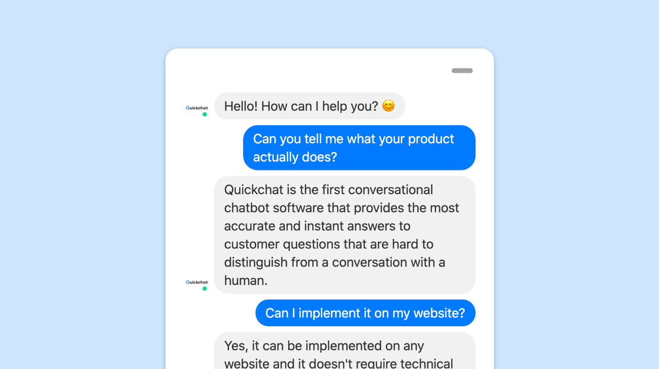 Knowledge-base chat bot for SaaS product sales